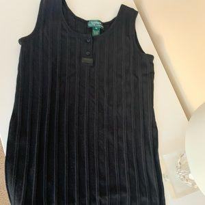 Vintage Ralph Lauren ribbed maxi dress
